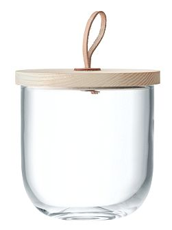 Ivalo Container & Ash Lid H15.5cm Clear