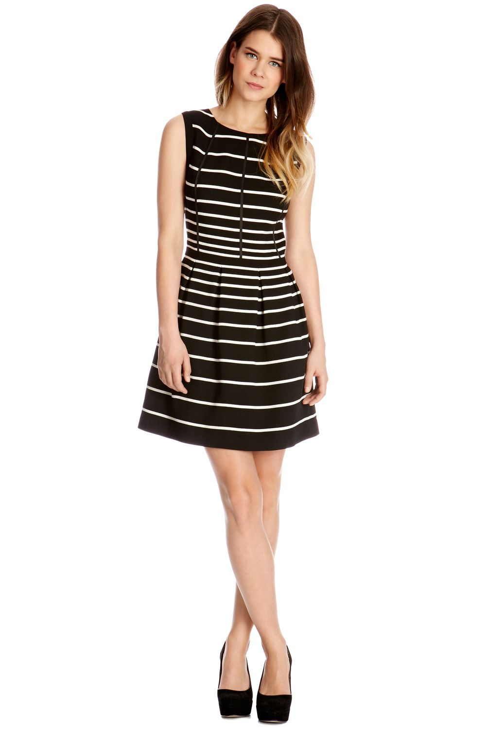 Graduated stripe dress