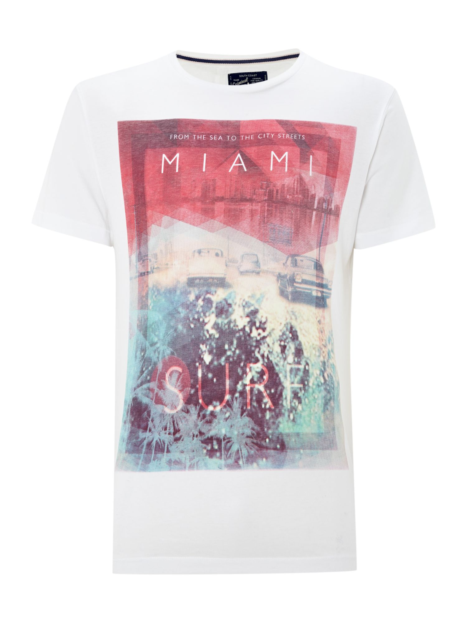 Miami surf graphic tee
