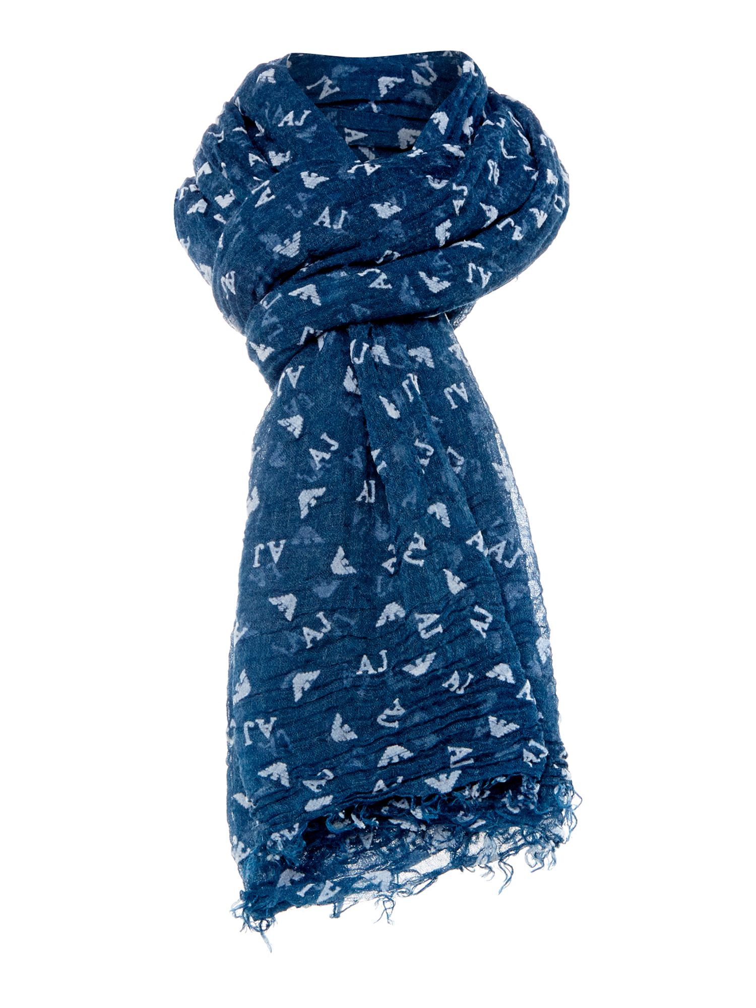 All over logo flocked scarf