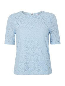Short sleeved lace t-shirt