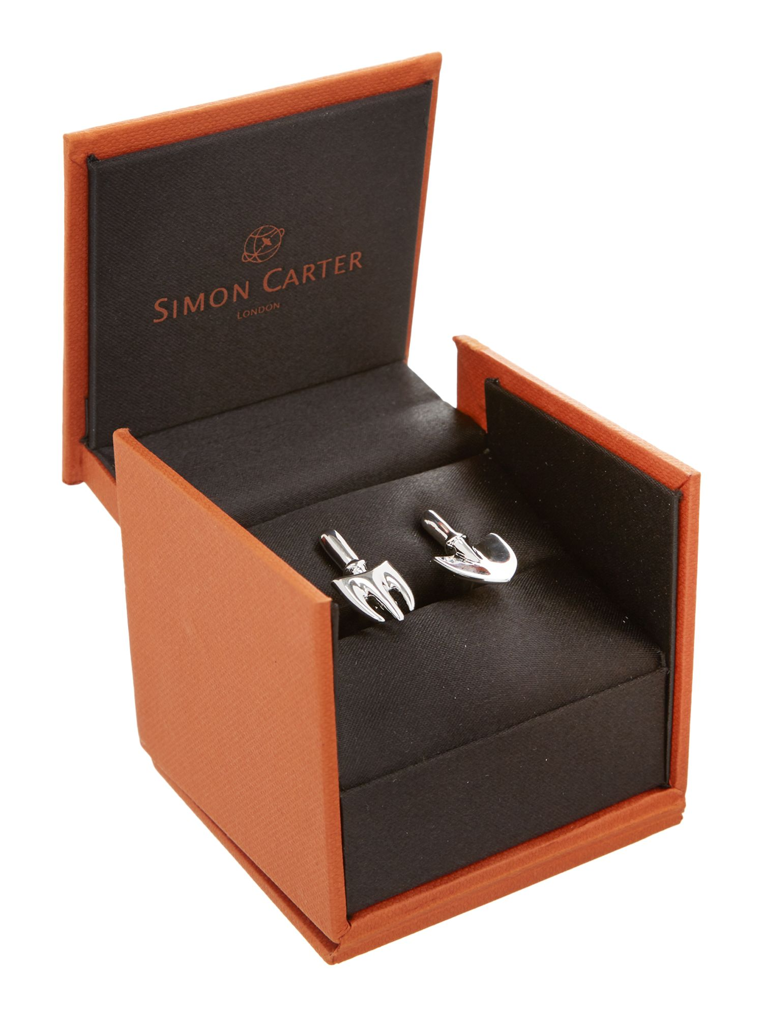Trowel and fork cufflinks
