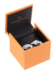 Simon Carter Crystal pistol cufflinks