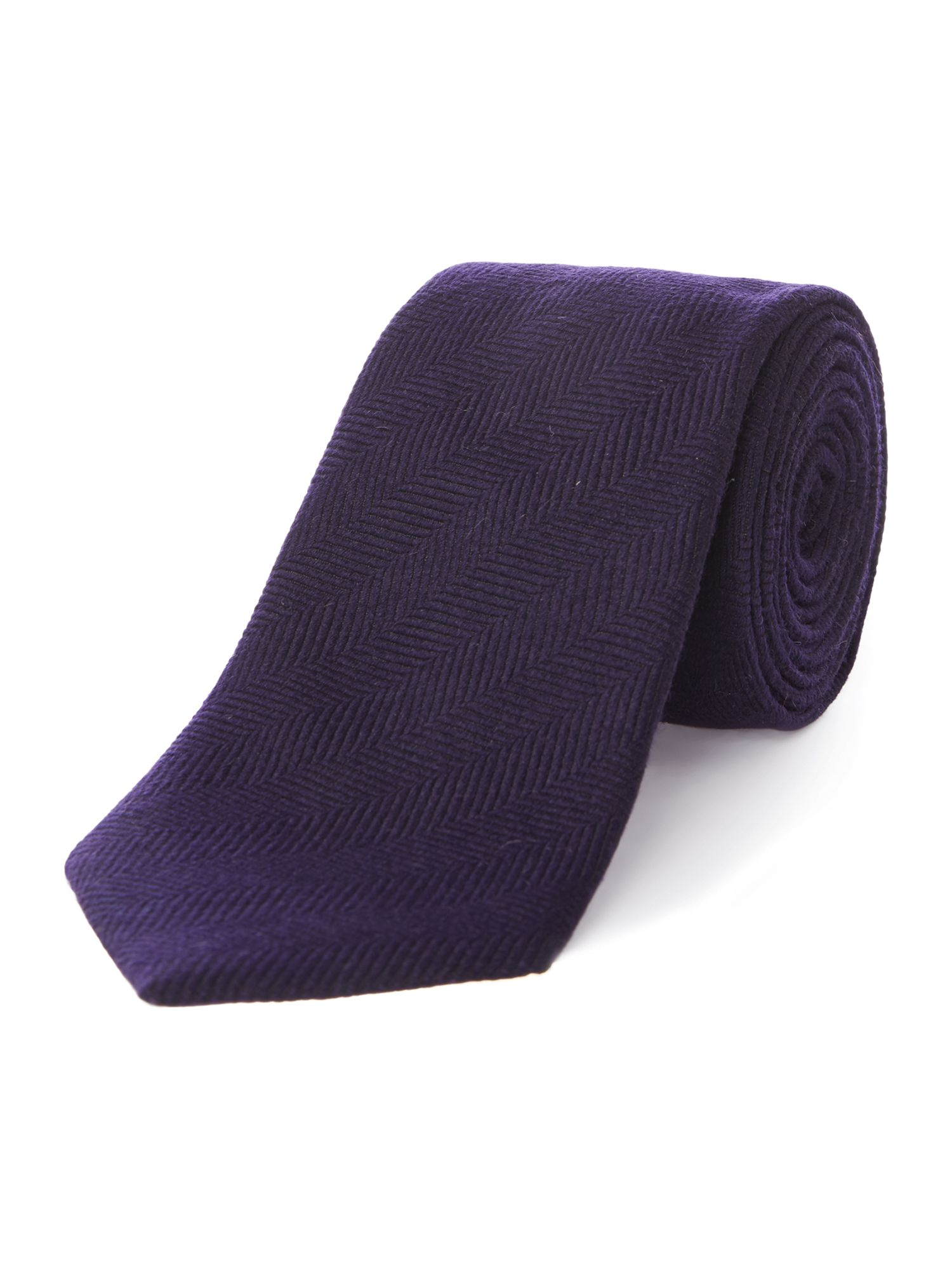 Clearvon wool herringbone tie