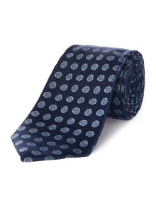 Town mini sunflower jacquard silk satin tie