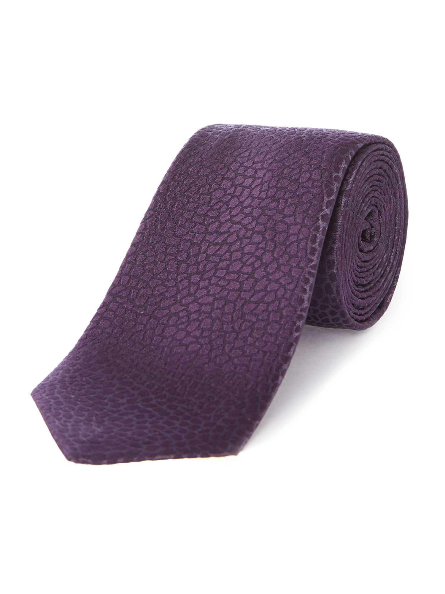 Bainbridge geo textured slim silk tie