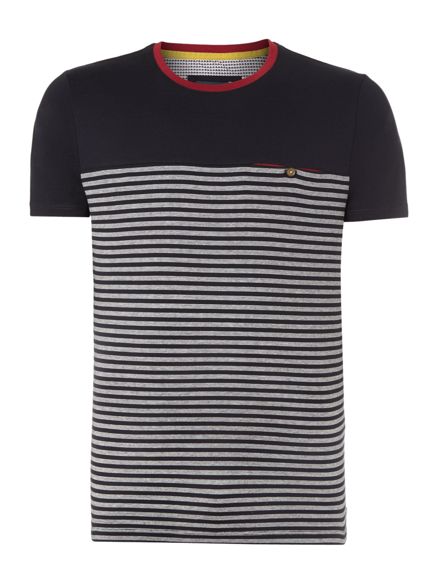Santmon half stripe crew neck