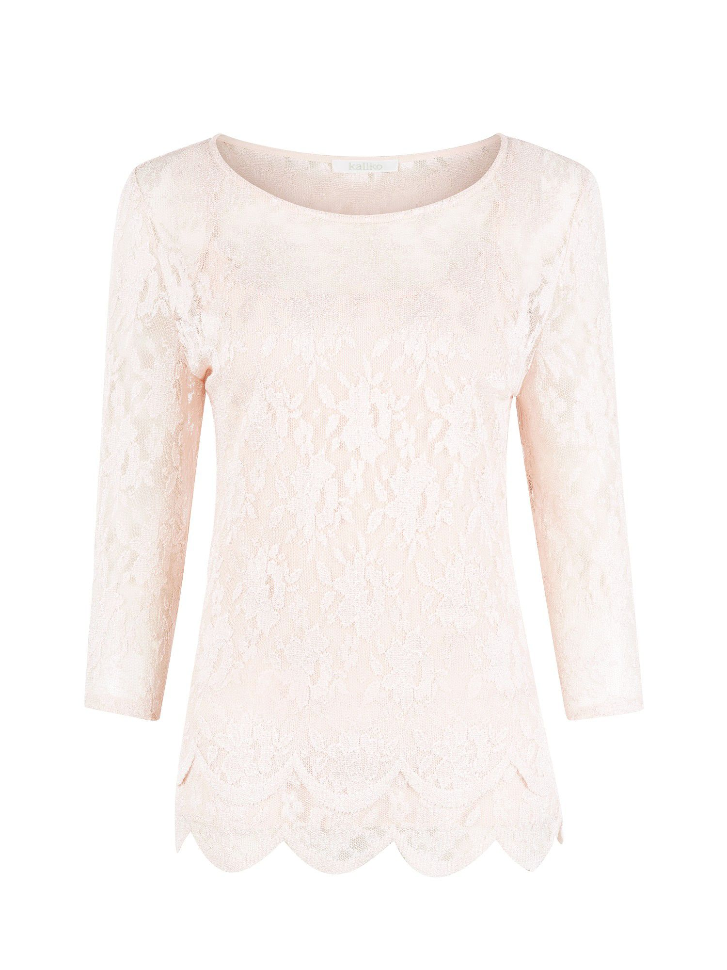 Rosewater lace stretch top