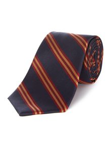 Beeston twin stripe silk tie