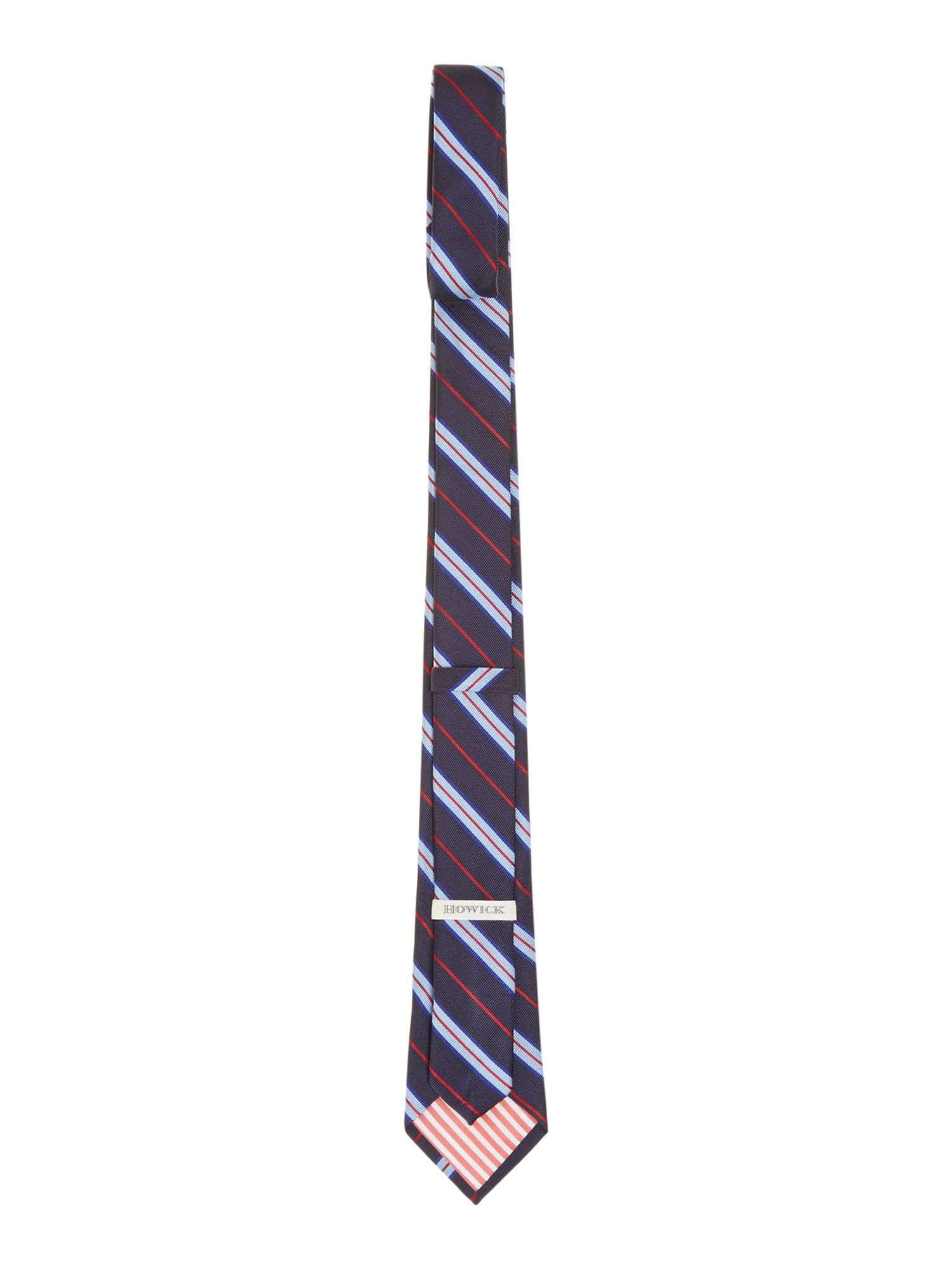 Upman college stripe silk rib tie