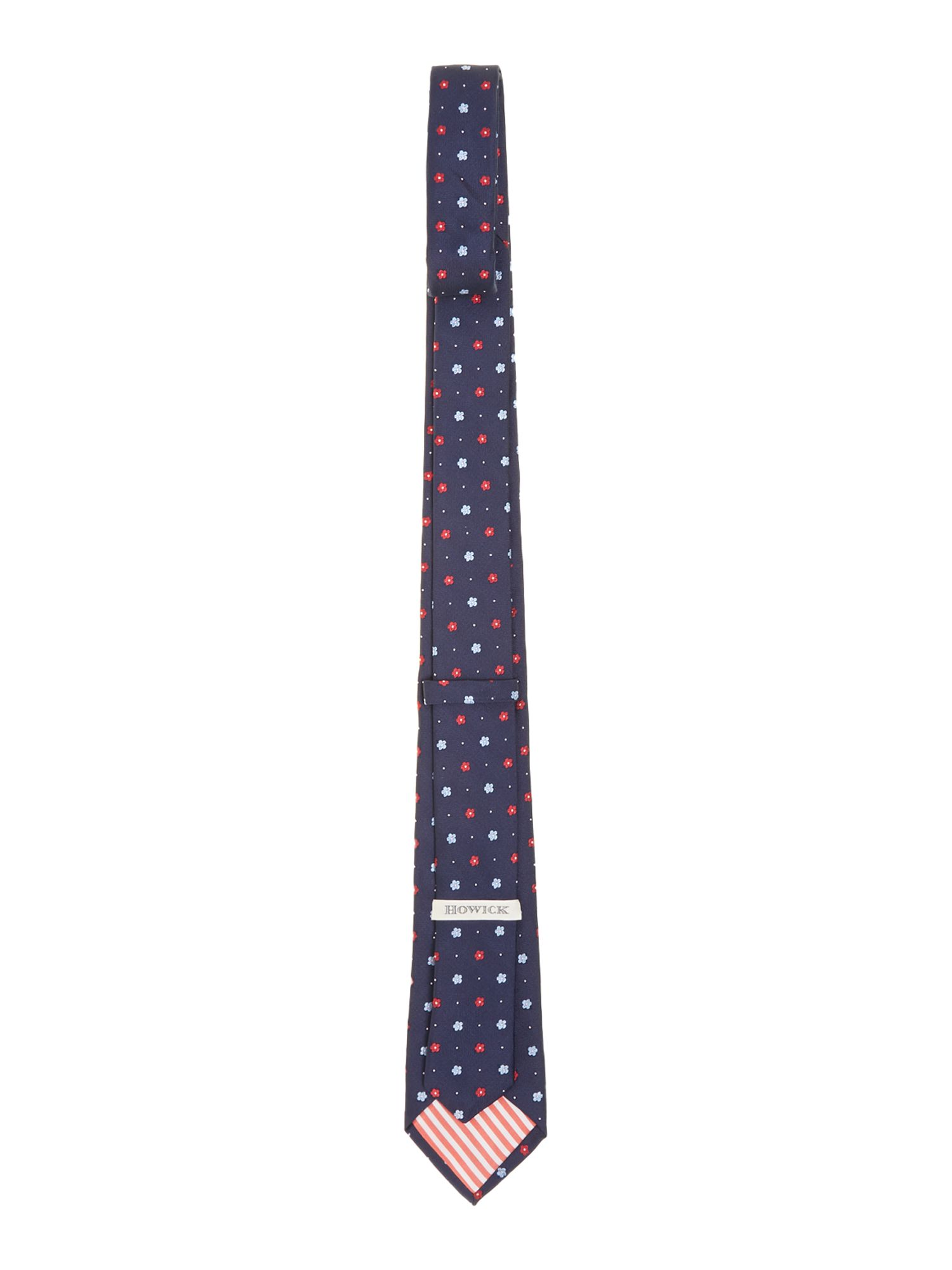 Rupid small flower geo silk tie