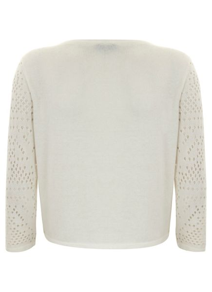 Mint Velvet Ivory holey stitch cardigan