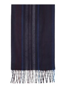 Soft touch burgundy stripe scarf