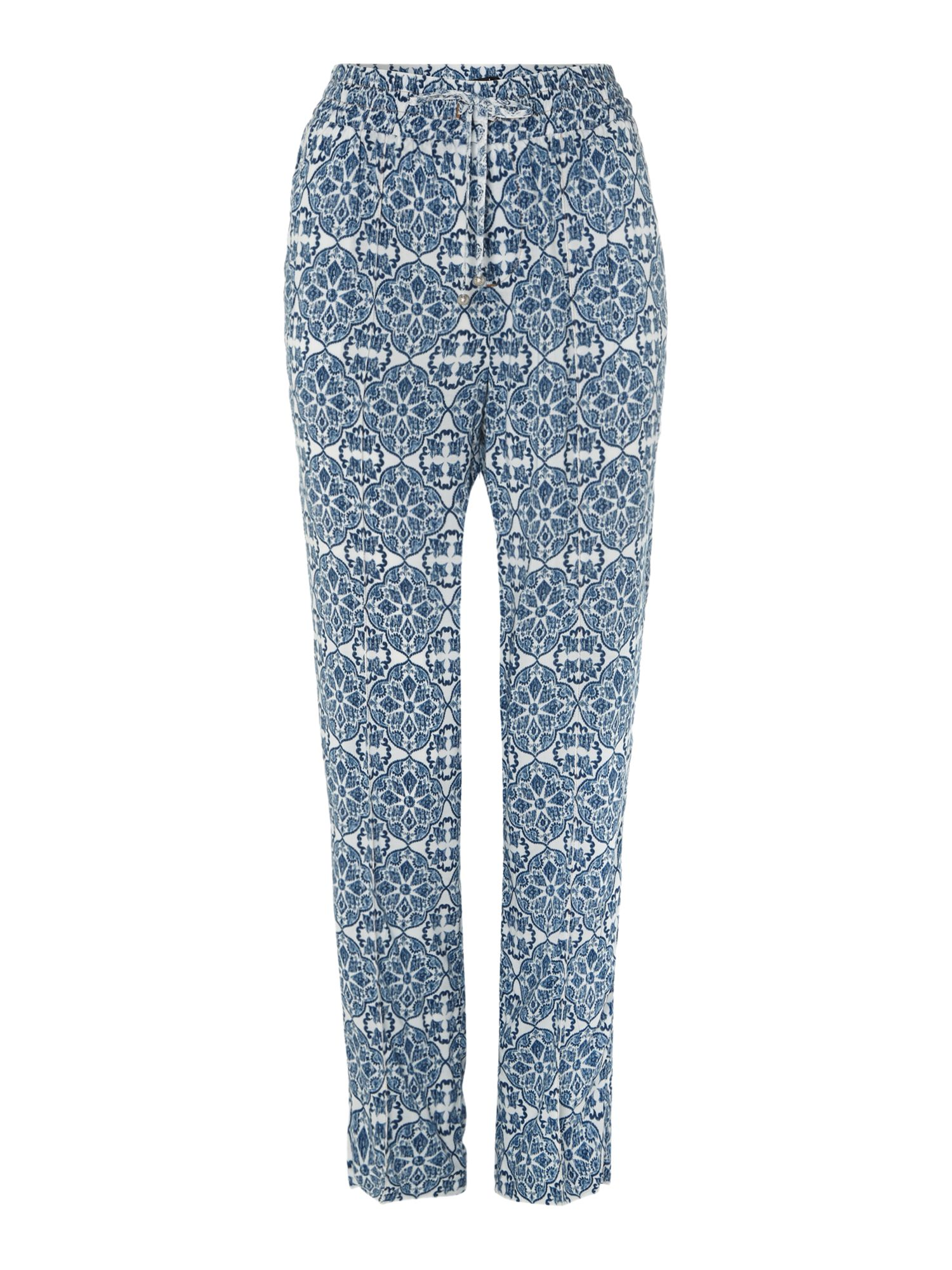 Relaxed fit printed trouser