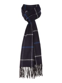 Soft touch windowpane check scarf