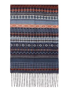 Soft touch fairisle scarf