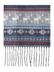 Soft touch festive scarf