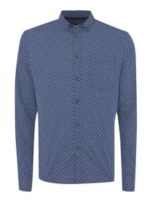 Daleside geo print long sleeved shirt