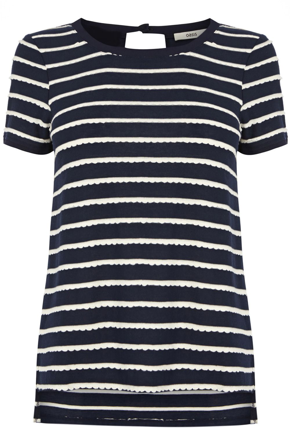 Scallop stripe t-shirt