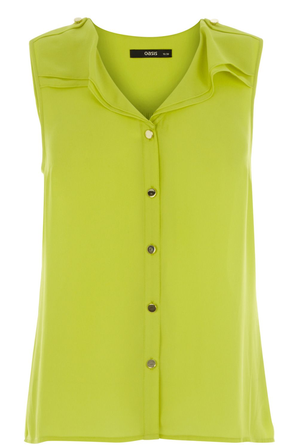 Sleeveless frill shirt