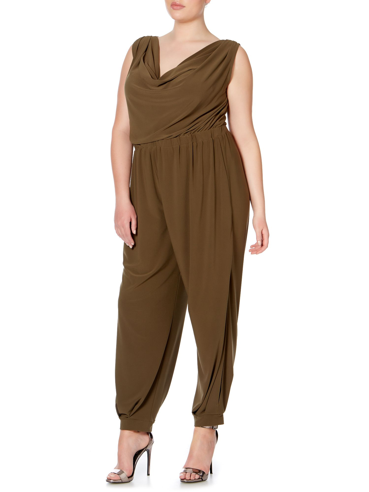 Cowl neck jumpsuit