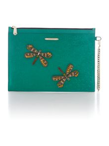 Nomad green large clutch bag