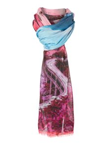 Road to nowhere print viscose scarf