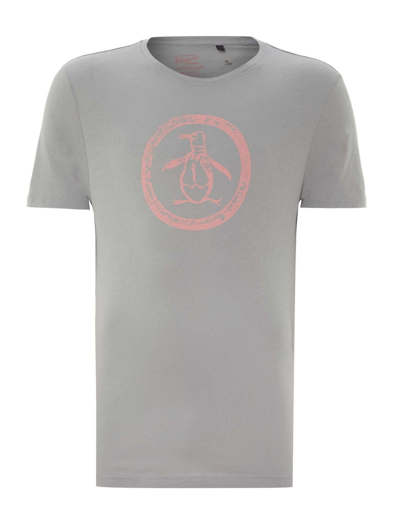 Distressed logo circle t-shirt