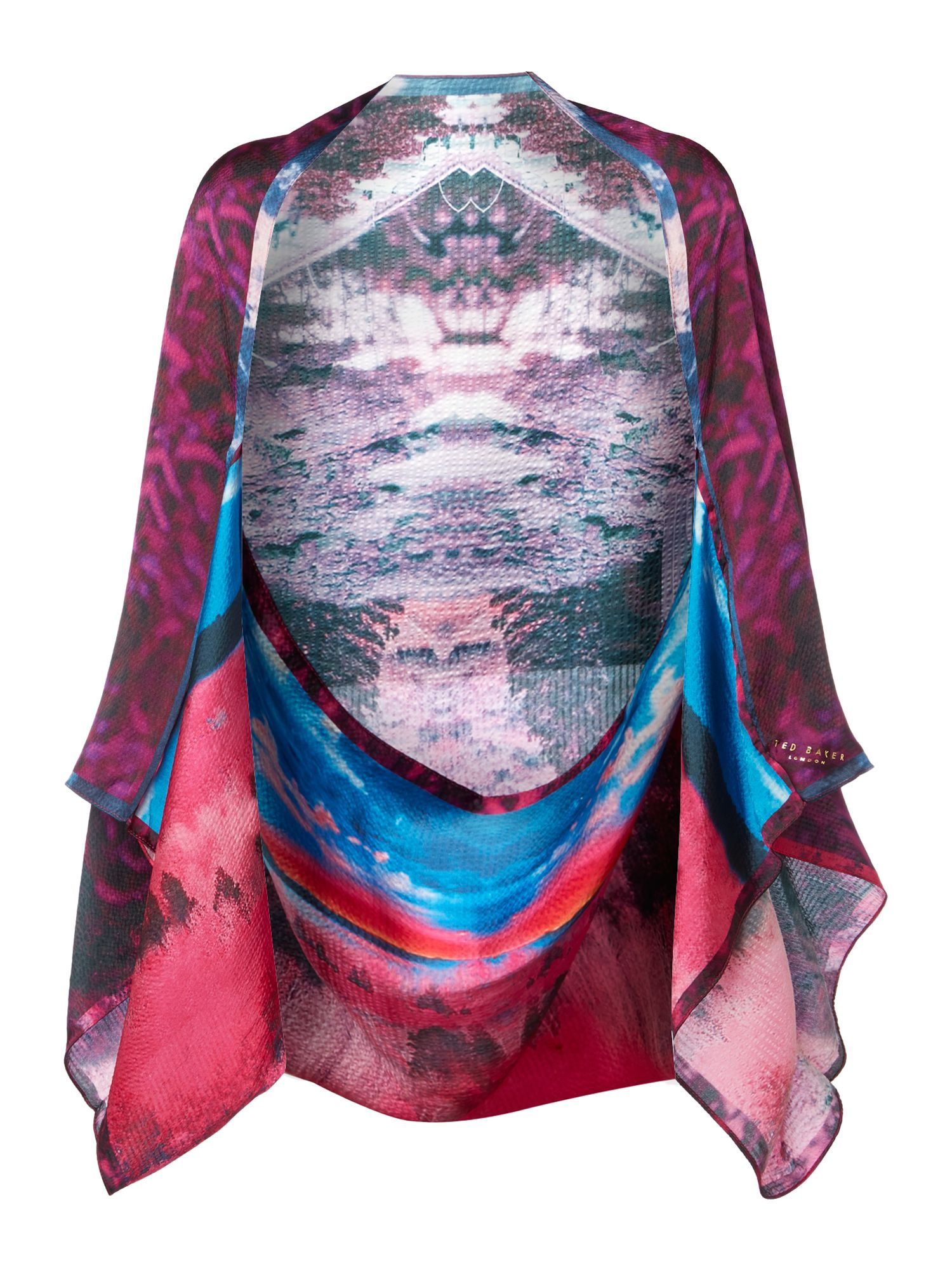Road to nowhere print cape