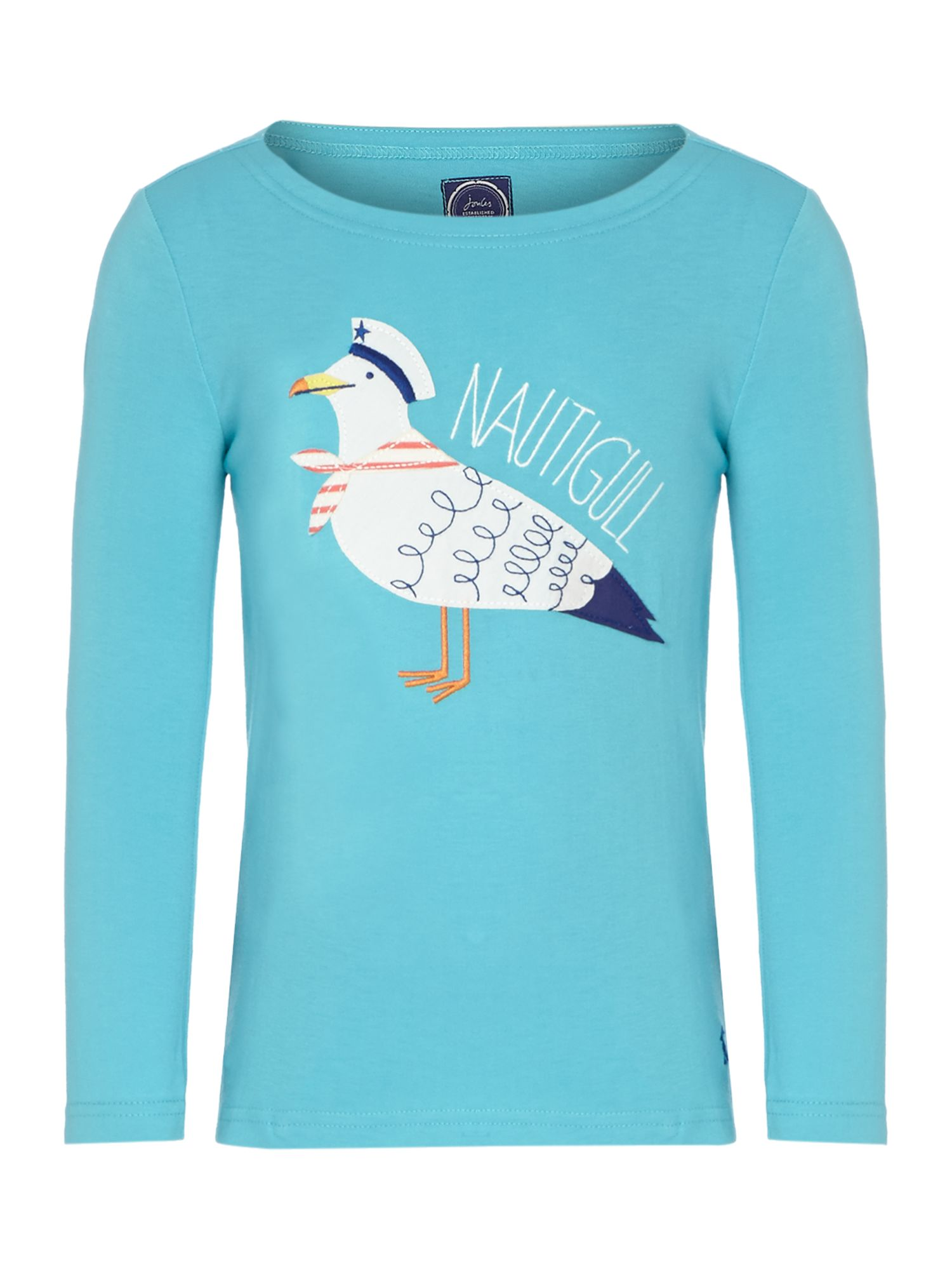 Girls seagul applique t-shirt