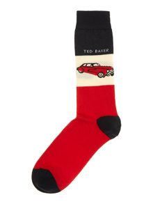 Car print underwear and sock gift box