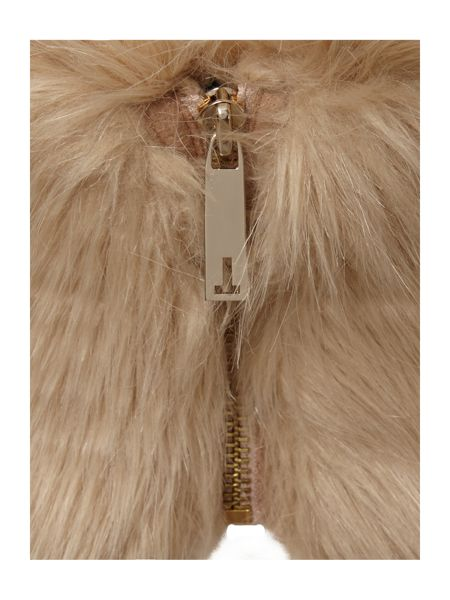 Ted Baker Zip high neck faux fur collar