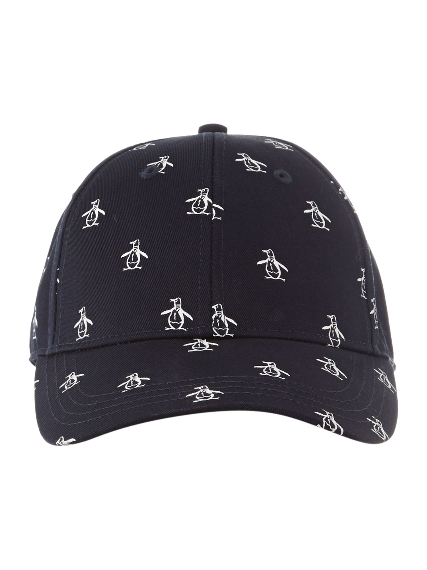 Adjustable all over logo baseball cap