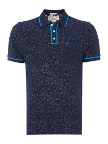 Floral printed earl polo shirt
