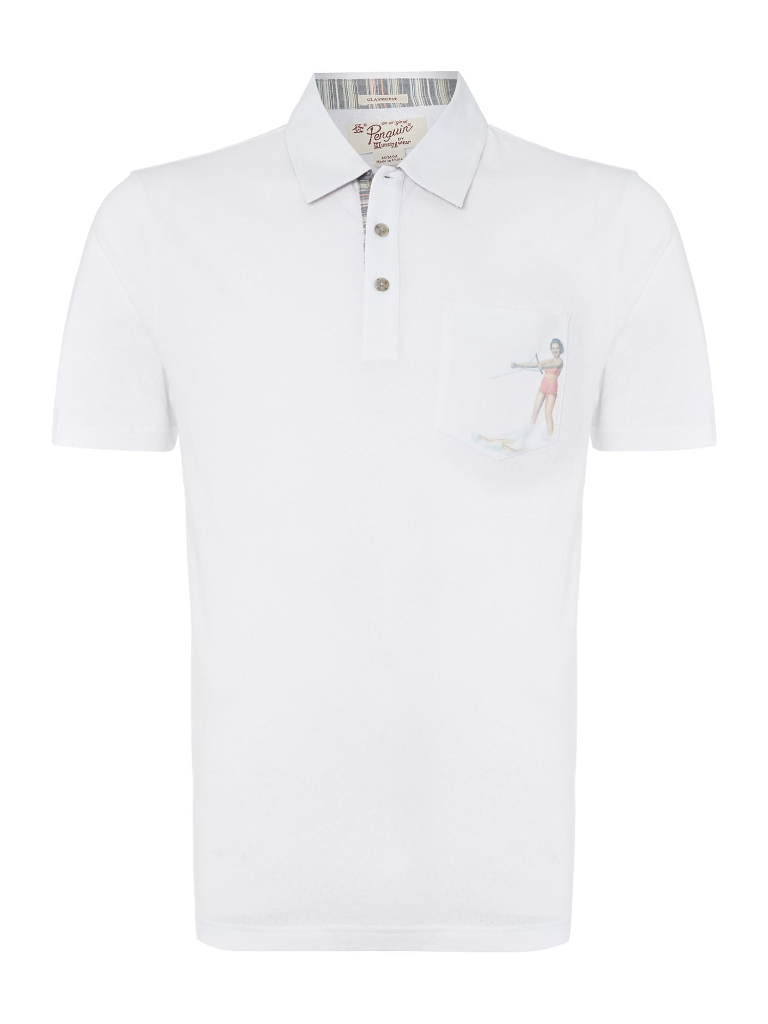 Waterski girl pocket polo