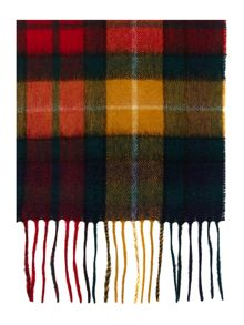 New check tartan cashmere mix scarf