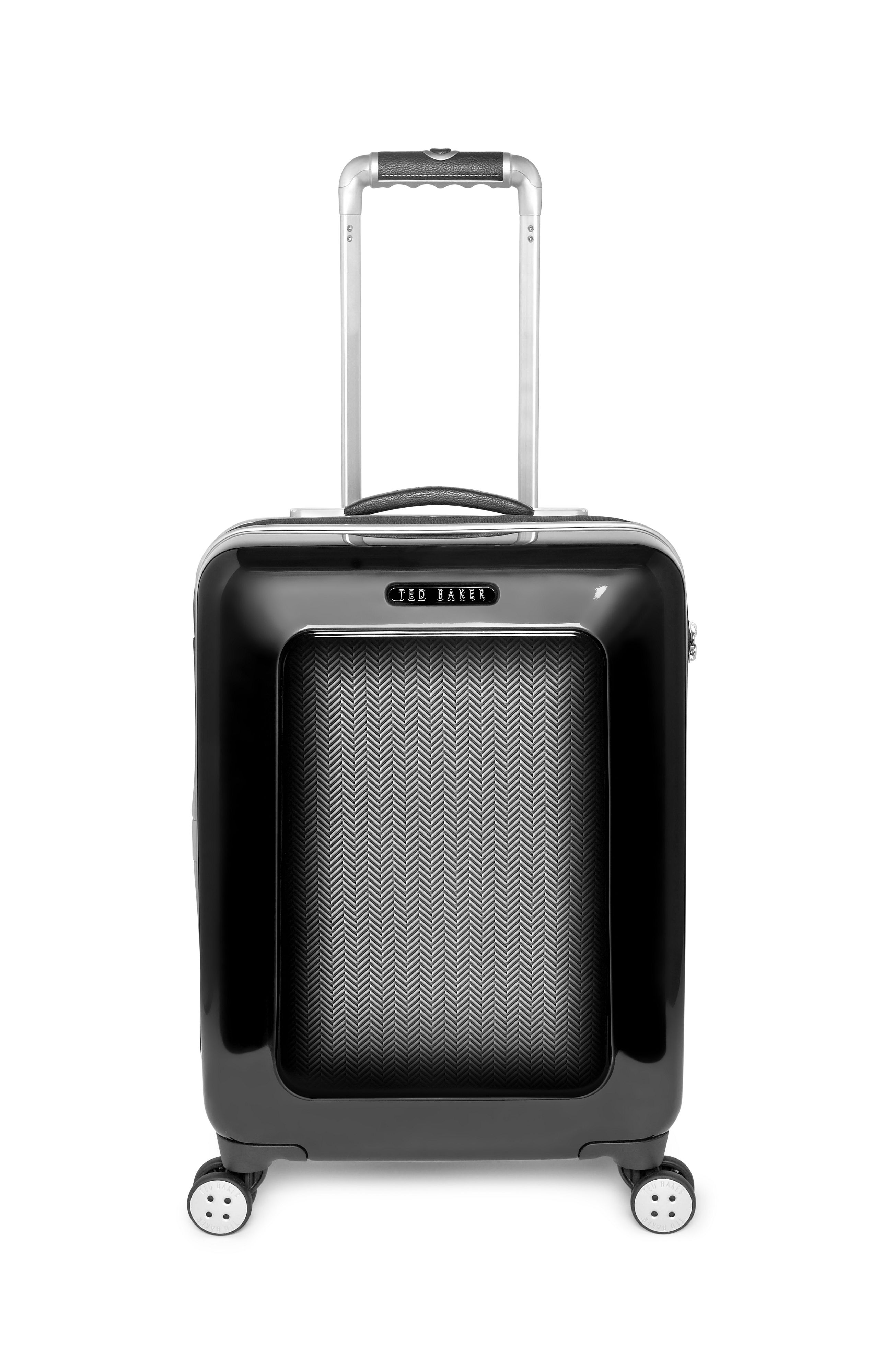 Herringbone black 4 wheel hard cabin rollercase