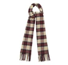 Gowan check cashmere mix scarf