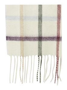 Barbour Bolt tattersall cashmere mix scarf