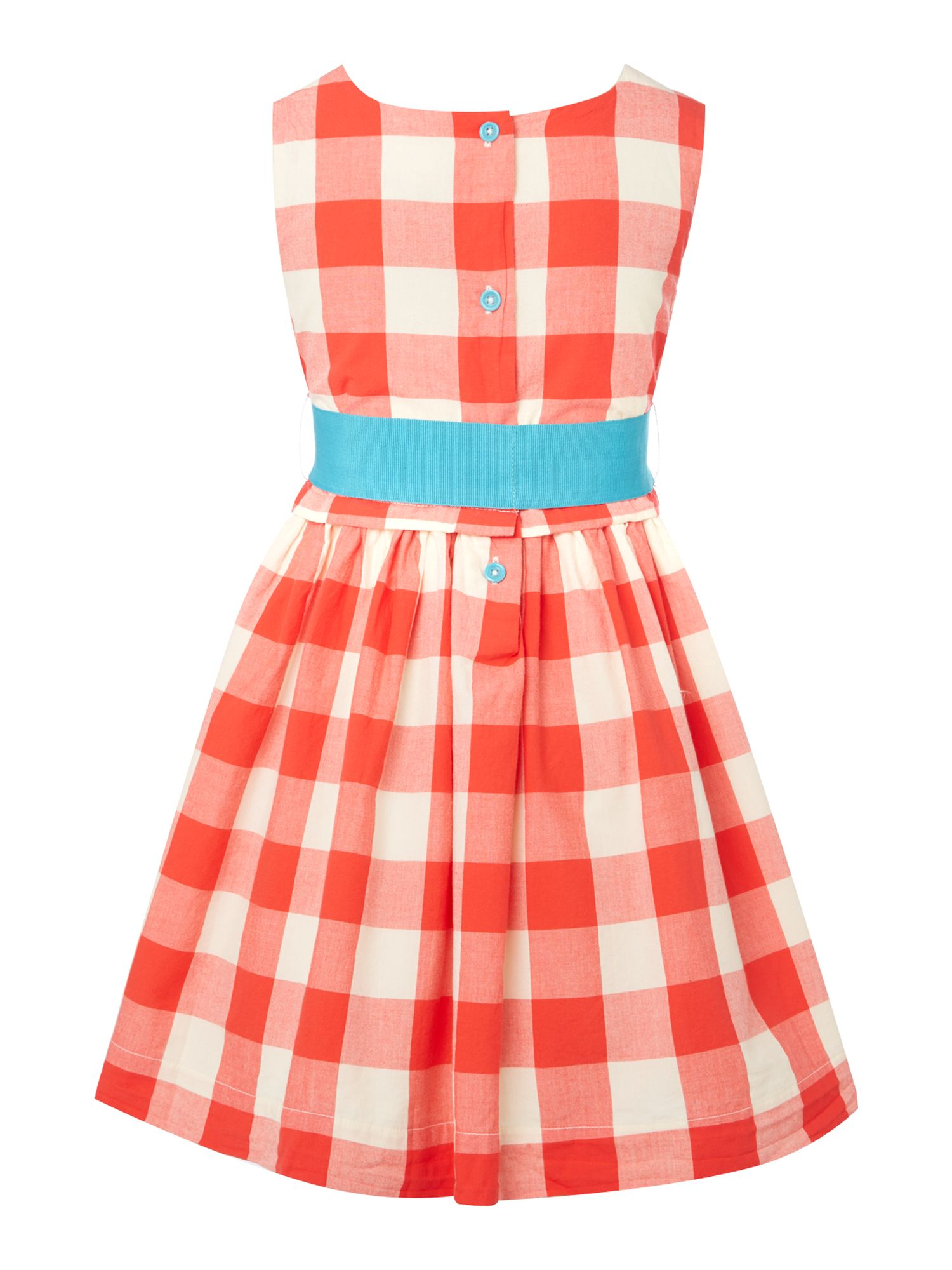 Girls gingham dress with bow