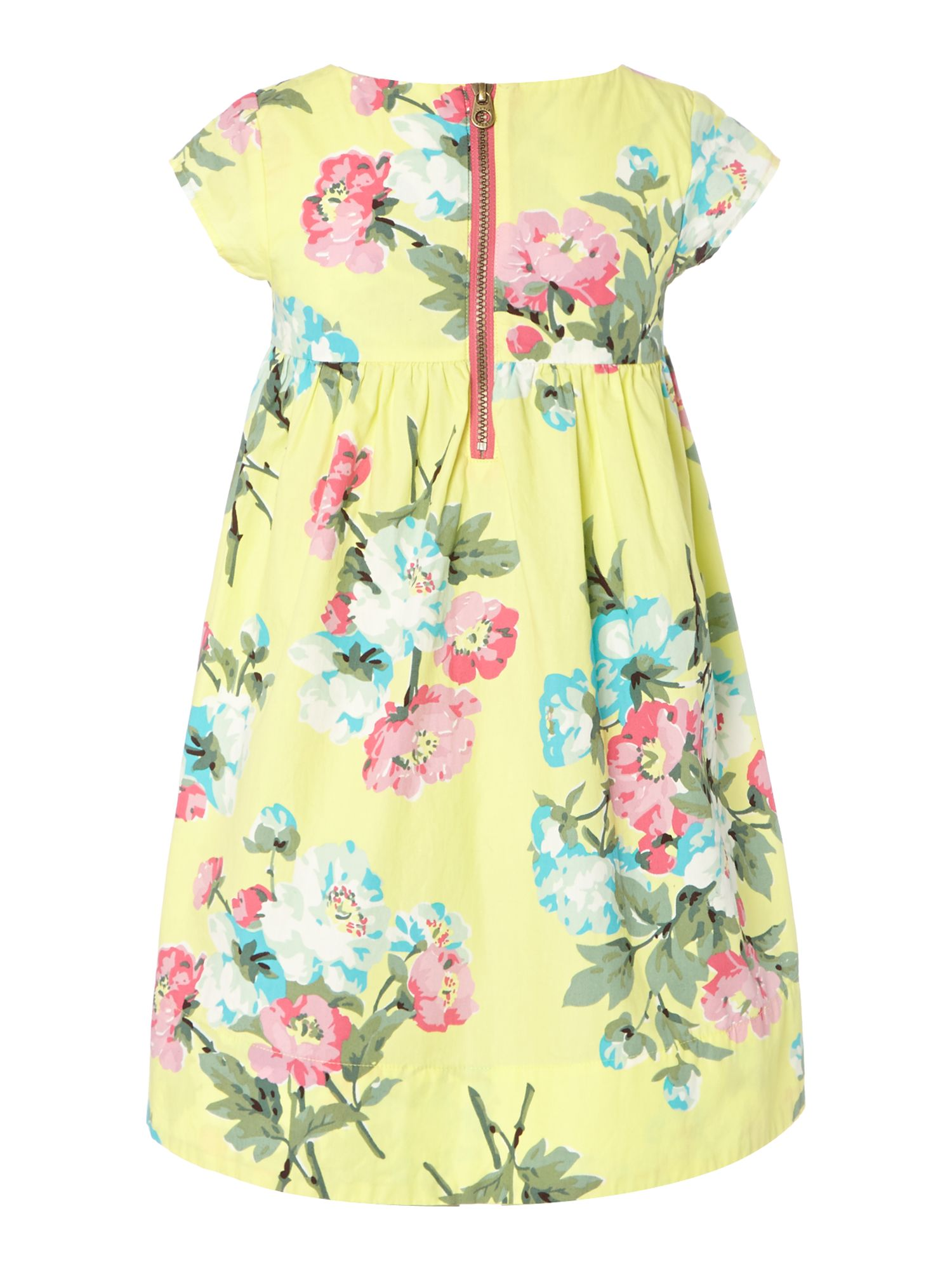 Girls floral smock dress