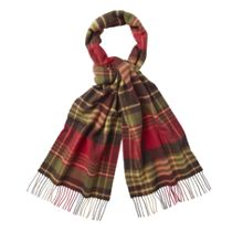 Country check lambswool scarf
