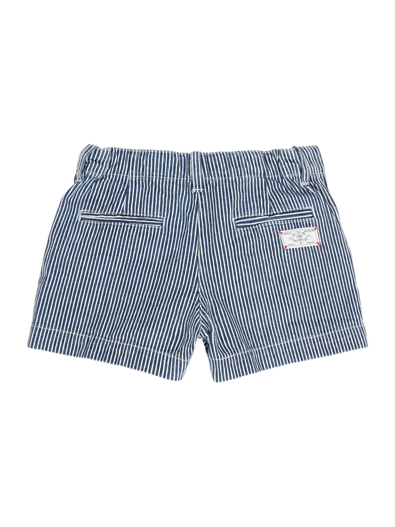 Girls striped short with button detail