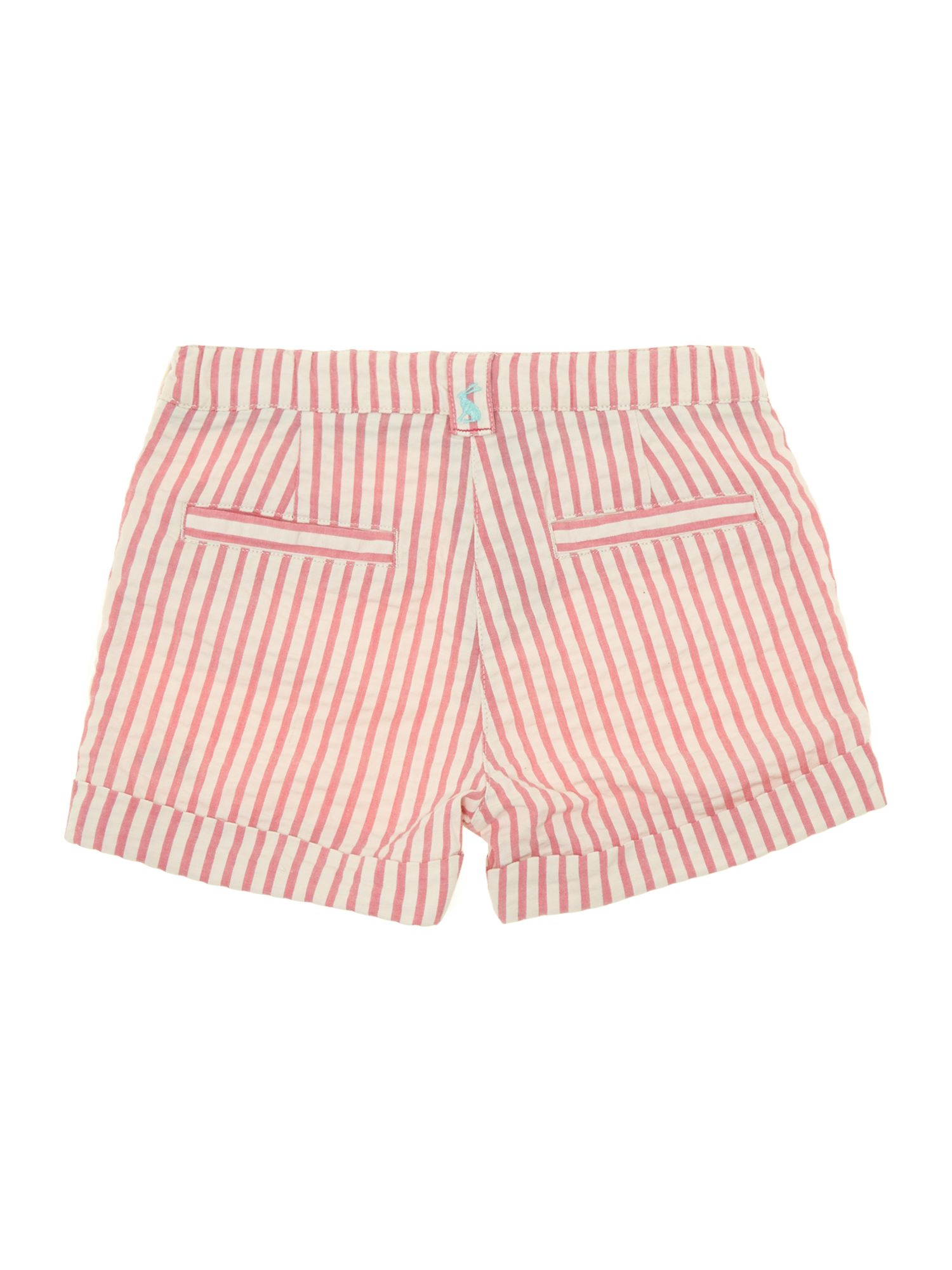 Girls turn up striped short