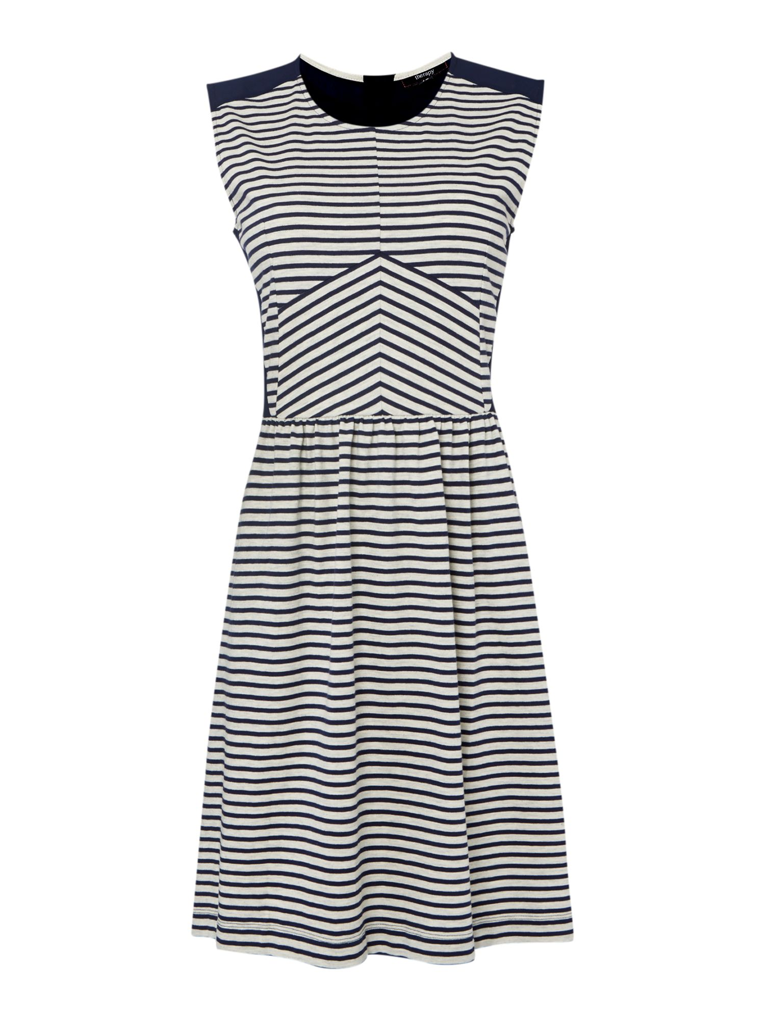 Jersey woven stripe dress
