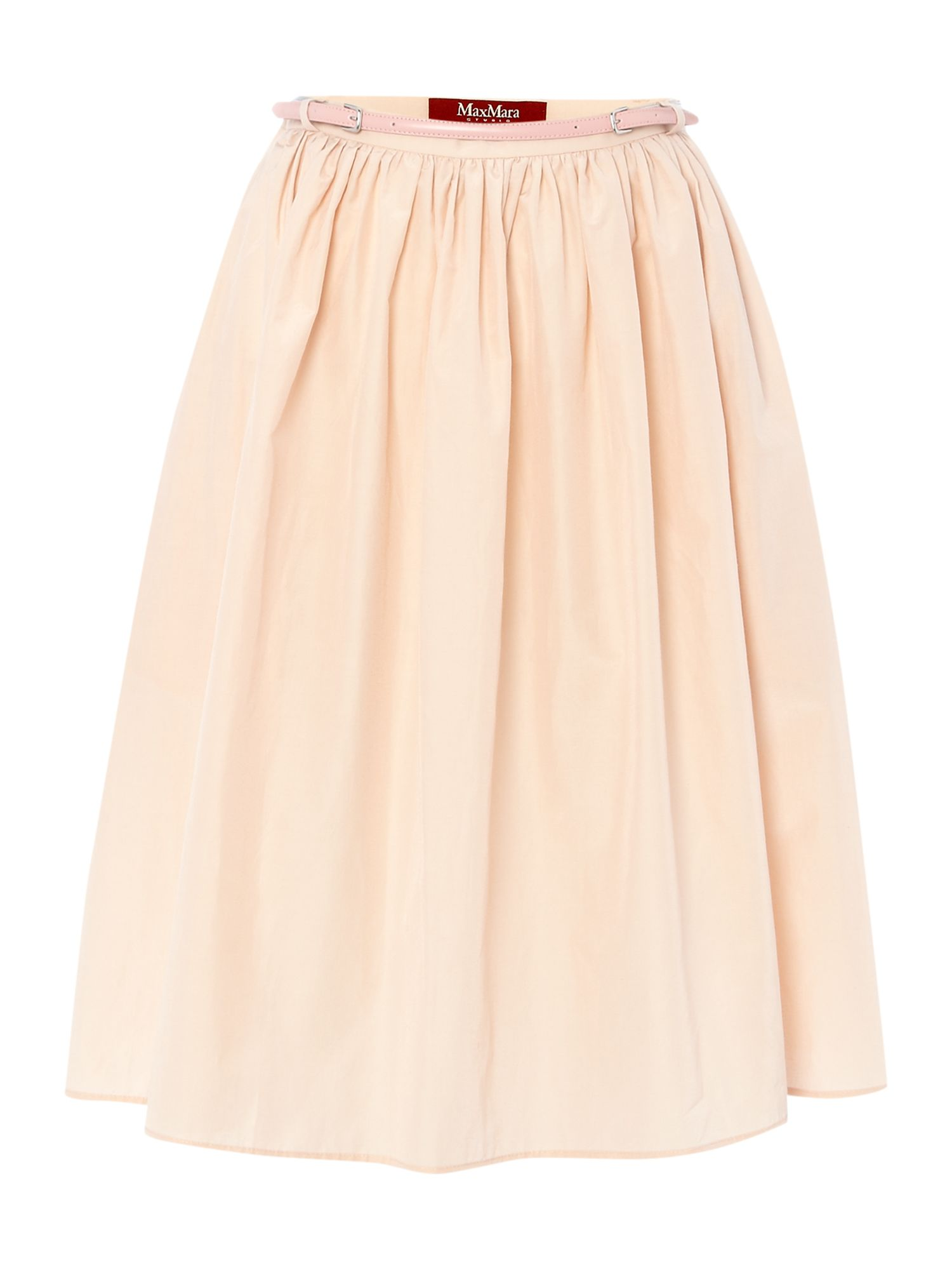 Snack a line silk mix skirt