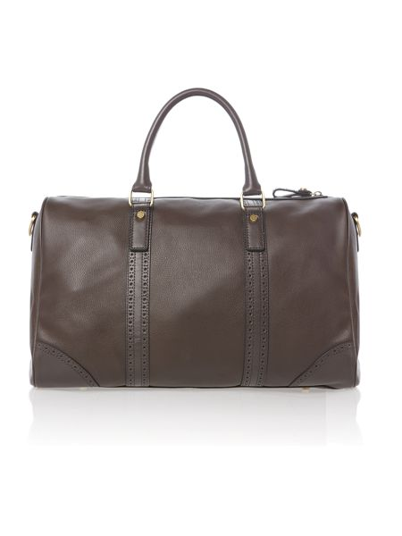 Ted Baker Broguing leather holdall bag