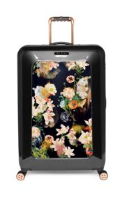 Opulent bloom black 4wheel hard large rollercase