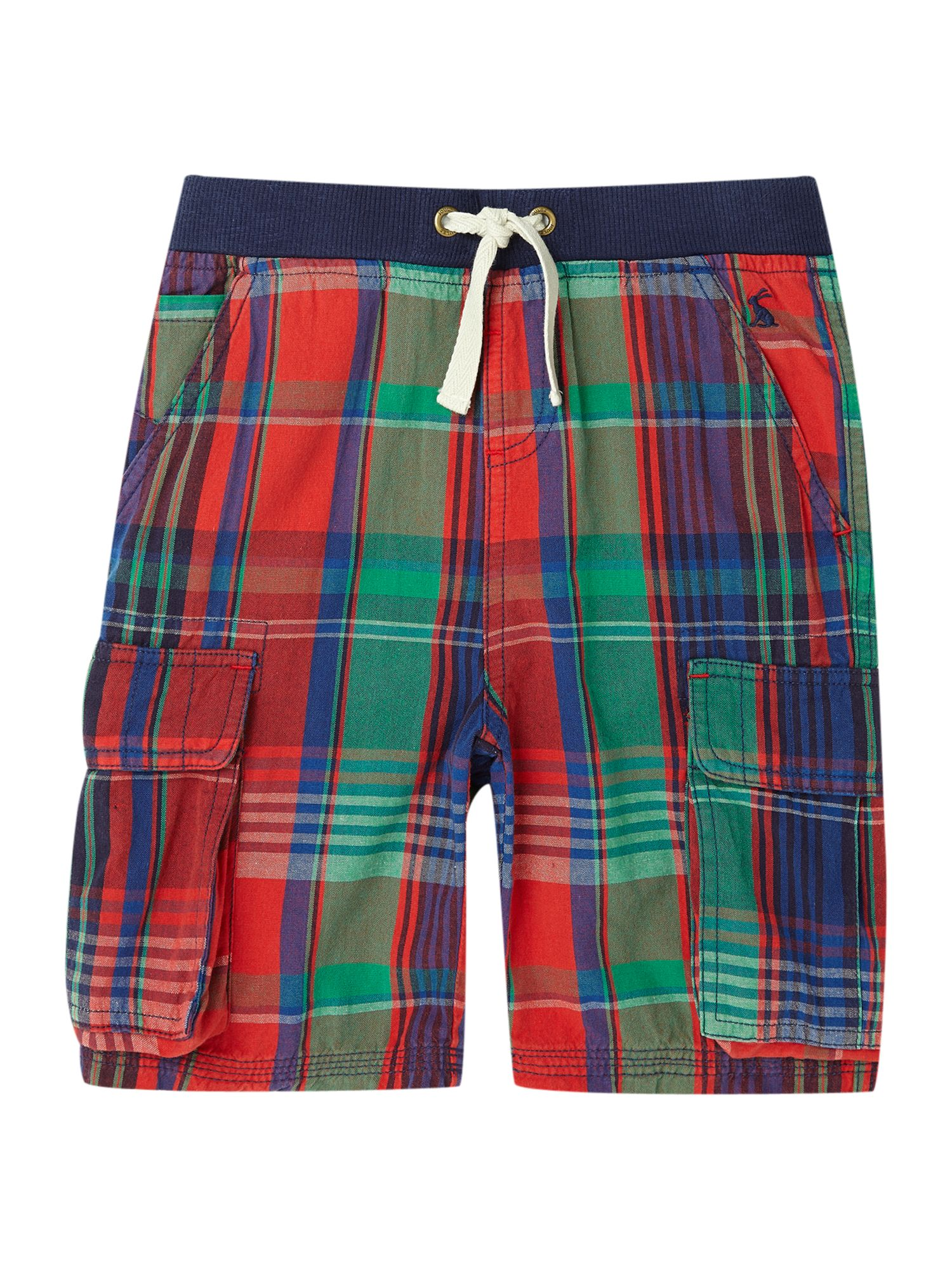 Boys check print short with cargo pockets