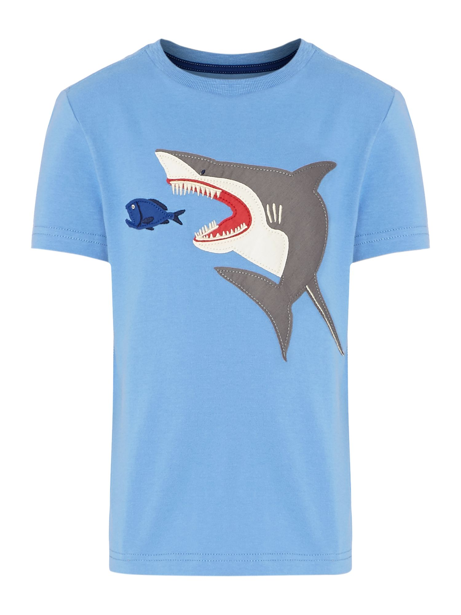 Boys shark applique t-shirt
